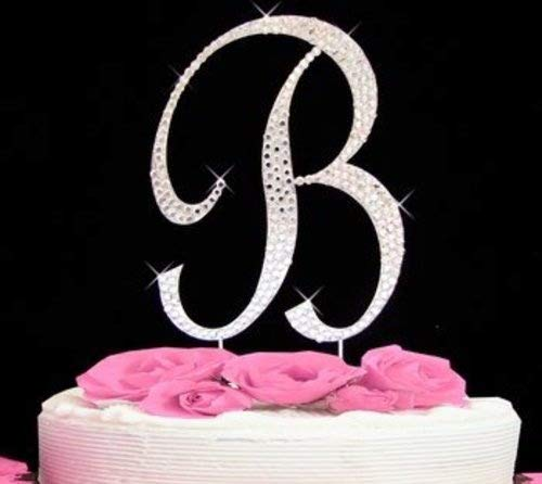 Rhinestone Cake Topper Letter B by -