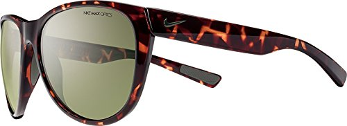 Nike EV0883-230 Compel Sunglasses (One Size), Tortoise/Iron Green, Green - 360 Sunglasses