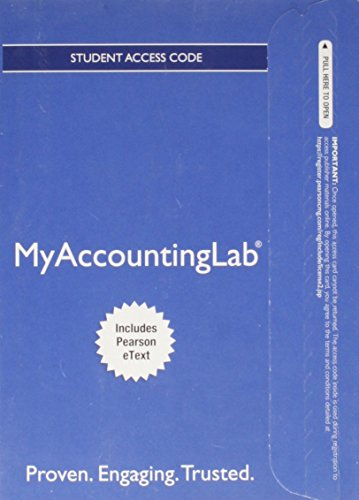 Price comparison product image NEW MyAccountingLab with Pearson eText -- Access Card -- for Financial & Managerial Accounting, Ch 1-15 (Financial Chapters) (MyAccountingLab (Access Codes))