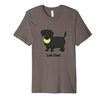 Mens Cute Fat Black Labrador Retriever Lab Dad T-Shirt 2XL Asphalt