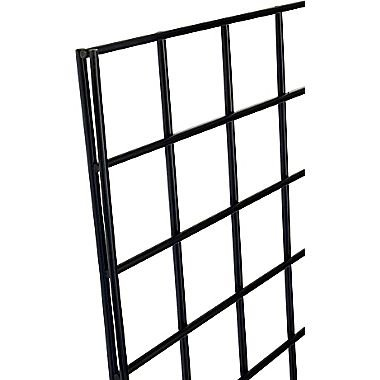 Only Garment Racks 2' x 6' Black Wire Grid Panel Wall Display - Grid Wall Complete with Wall Mount Brackets - (Sold as a Set of 3 Gridwalls and 12 Wall Mount Brackets) by Only Garment Racks (Image #2)