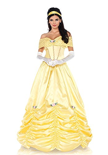 Classic Beauty Costume, Yellow, Small (Belle Womens Costumes)