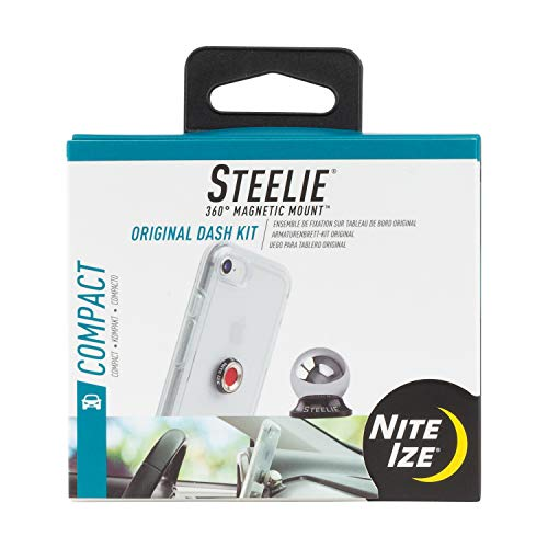 Nite Ize Original Steelie Dash Mount Kit - Magnetic Car Dash Mount for Smartphones ()