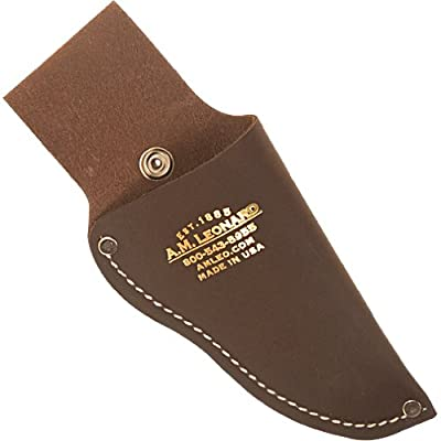 A.M. Leonard Pruner Leather Case 8 Inch with Snap : Gardening Tool Holders : Garden & Outdoor
