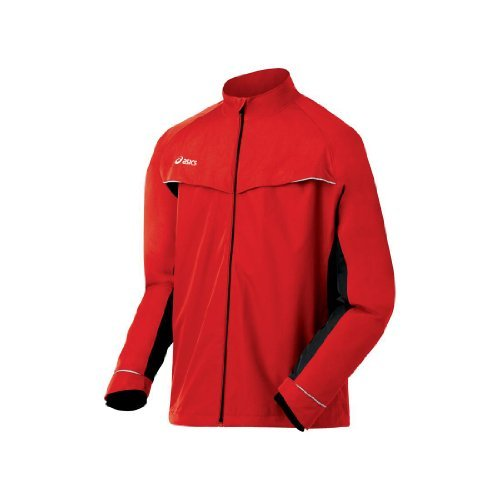 ASICS Men's Team Storm Shelter Jacket, Red/Black, X-Small