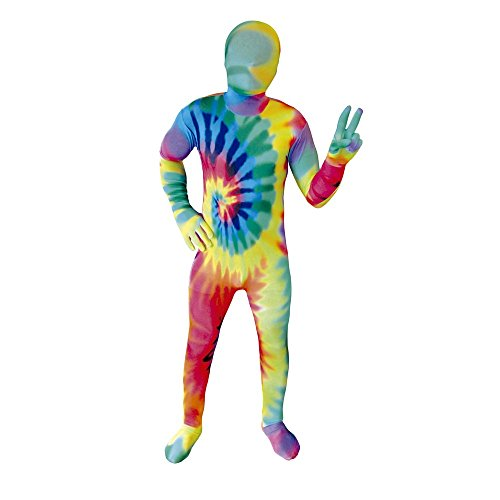 "[Tie Dye Kids Morphsuit Fancy Dress Costume - size Medium 3""7-4""0 (108cm-122cm)] (Tie Dye Dress Costume)"