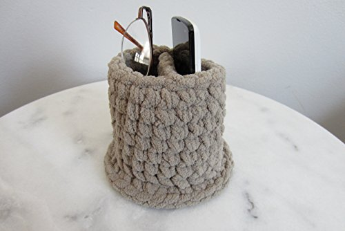 (Upright Eyeglass Holder for Two Pairs of Glasses - or Glasses and a Cellphone, Soft Basket Case, Vertical Stand - Many Color Choices!)