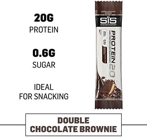 12 Protein Riegel Sis 20 Grammi Protein x 55 g Gusto Brownie al Schokolade Fondant