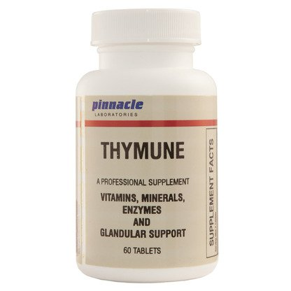Thymune for Thymus/Spleen Vitamin, Mineral, Enzymes, and Glandular Support (60 Tablets) by Pinnacle Laboratories
