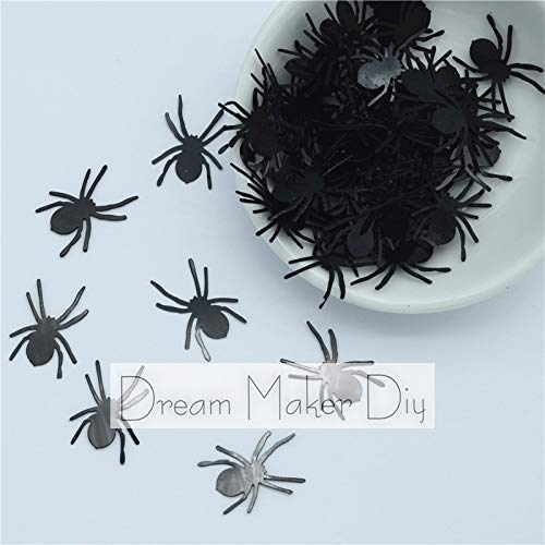Jienie 300pcs(50g) 1820mm Halloween Spider Loose Sequins Beautiful Crafts for Scrapbook DIY Accessory Kids DIY -