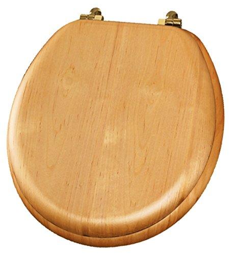 - Premium Natural Reflections Wood Round Toilet Seat