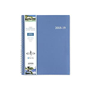 "Blue Sky 2018-2019 Academic Year Weekly & Monthly Planner, Flexible Cover, Twin-Wire Binding, 8.5"" x 11"", Endless Summer"