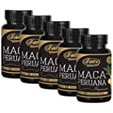 Kit 5 - Maca Peruana Premium 100% Pura 300 Cápsulas