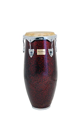 Tycoon Percussion 12.5 Inch Concerto Series Red Pearl Tumba With Single Stand by Tycoon Percussion