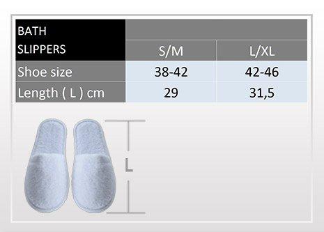 Zapatillas de baño de rizo, 100% algodón, 1 par oder 2 pares blanco
