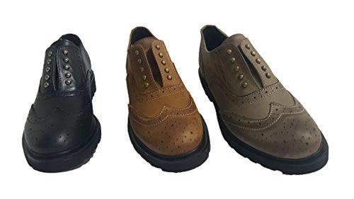 N Scarpe marrón Mocasines Piel Antonio marrón By mujer para marrón de A1960 RnBOHH