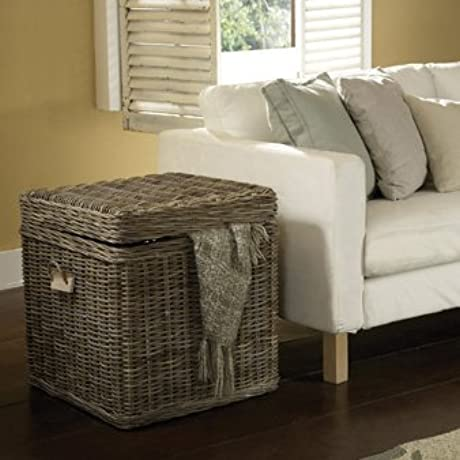 Padma S Plantation KUB06 TR End Table Trunk Kubu Grey