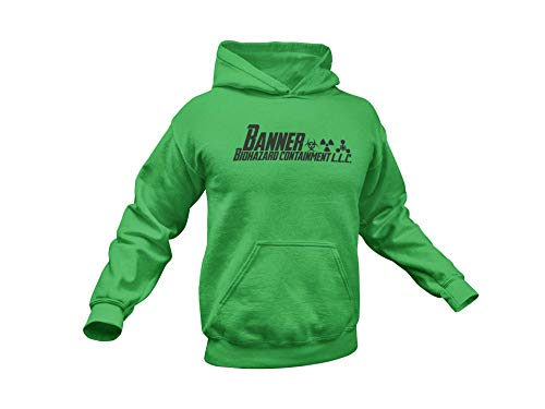 Hulk Hoodie/Hulk inspired Hoodie/Banner Containment/Multiple colors up to 4XL