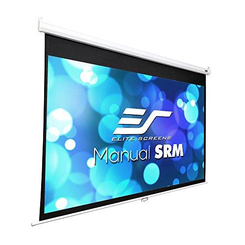 Elite Screens Manual SRM Series, 120-Inch 16:9, Slow Retract