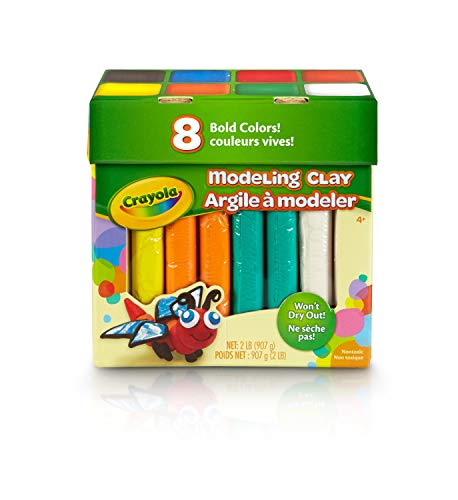 Crayola 8ct Modeling Clay Bold Colors 2 Lb Gift for Kids Age 4 amp Up
