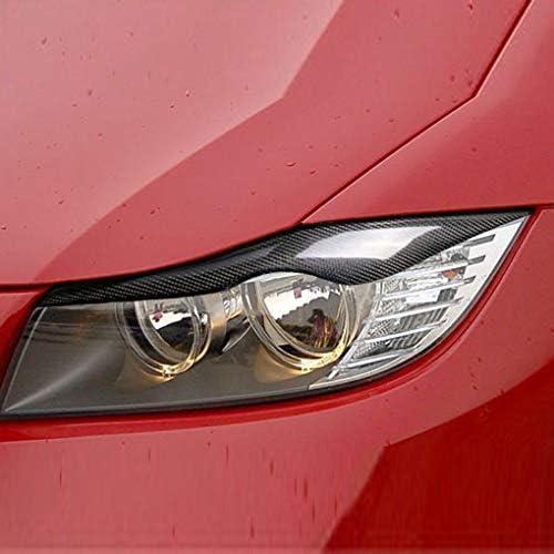 1Pair Carbon-Faser-Scheinwerferblenden Eyelids Aufkleber Ersatz f/ür BMW E90 320i 325i 330i 2005-2012