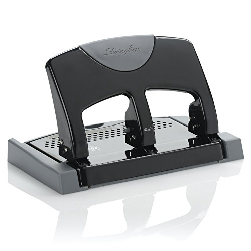 Swingline 3 Hole Punch, SmartTouch, Low Force, 45 Sheets Punch Capacity (74136)