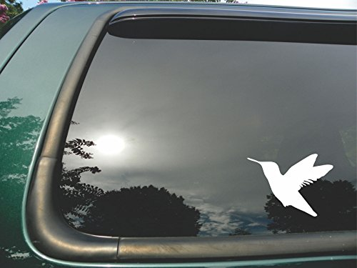 Flying Hummingbird Silhouette- Die Cut Vinyl Window Decal/sticker for Car/ Truck/ Laptop - What Made Of Nectar Is