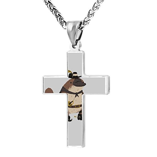Kenlove87 Patriotic Cross Words In Boots Platypus, Puss In Boots Religious Lord'S Zinc Jewelry Pendant (Puss In Boots Costume For Women)