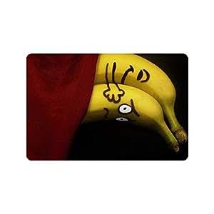 """Customized Banana interior al aire libre Felpudo (Non Slid decoración del hogar Tamaño 23.6x15.7"""""""