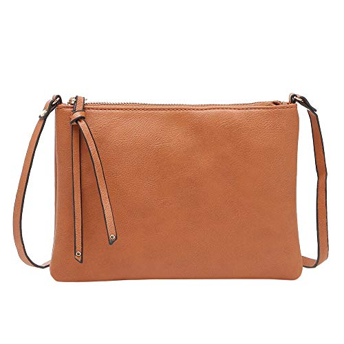 Cinhent Shoulder Bag Women's Purse Satchel Crossbody Zipper Flat Square Package (Brown) from Cinhent Shoulder Bag