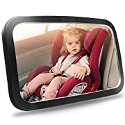 Shynerk Baby Car Mirror, Safety Car Seat Mirror for Rear Facing Infant with Wide Crystal Clear View, Shatterproof, Fully…