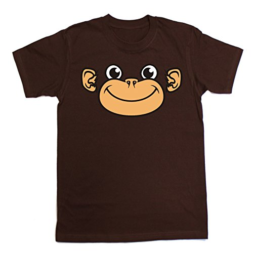 Price comparison product image 123t Slogans Kids Boy's Girl's ANI-MATES MONKEY (L-Age-9-11 - BROWN ) T SHIRT