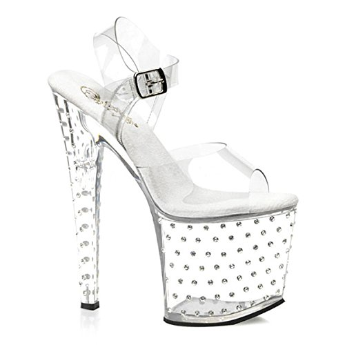 Strass High-Heels klar Transparent