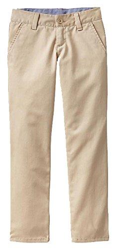 (GAP Kids Girls Khaki Classic Chino Straight Leg School Uniform Pants 18 )
