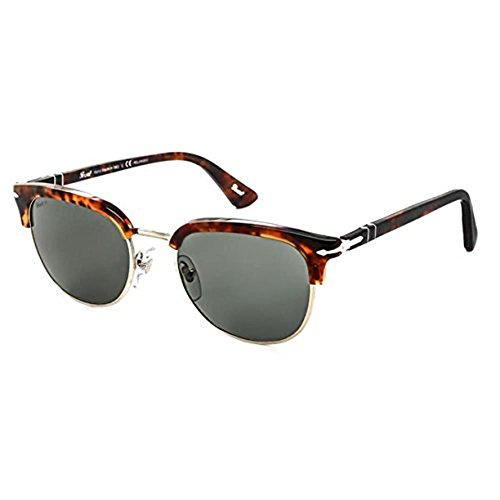 Persol Men's PO3105S Sunglasses Caffe' / Polar Geen 51mm & Cleaning Kit - Po3105s Persol