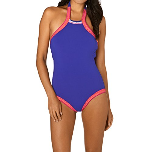 Seafolly Summer Vibe High Neck Maillot Blue Ray Women's Swimsuits One Piece