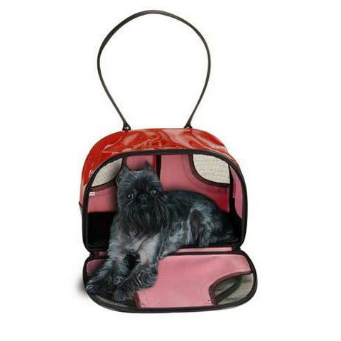 Pet Voyage Wilson Tote Large Pet Carrier Red 18 x 12.5 x 9.5