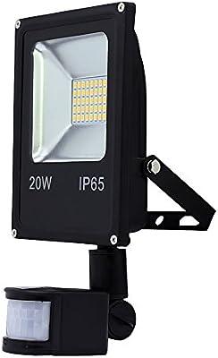wolketon LED 20W Blanco frío Foco Proyector con Sensor de ...