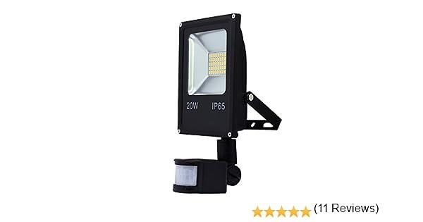 wolketon LED 20W Blanco Cálido Foco Proyector con Sensor de ...