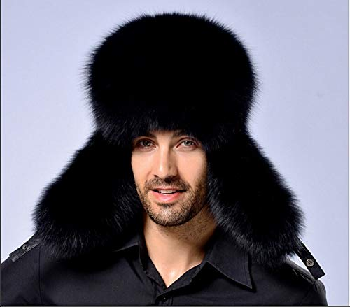 4a079893c7c Amazon.com  TreeMart New Winter Mnes Bommer Hats Men s Winter Raccoon  Fur Lamb Leather Russian Hunter Hat Trapper Ear Hats  Kitchen   Dining