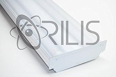 White 20W Low Profile Flush Mount 2-foot 2-light Ceiling Light Fixture with 2x LED T8 10 Watt Tubes