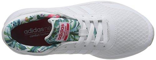 adidas CF Race W, Chaussures de Sport Femme Blanc (Ftwbla / Ftwbla / Rosene)