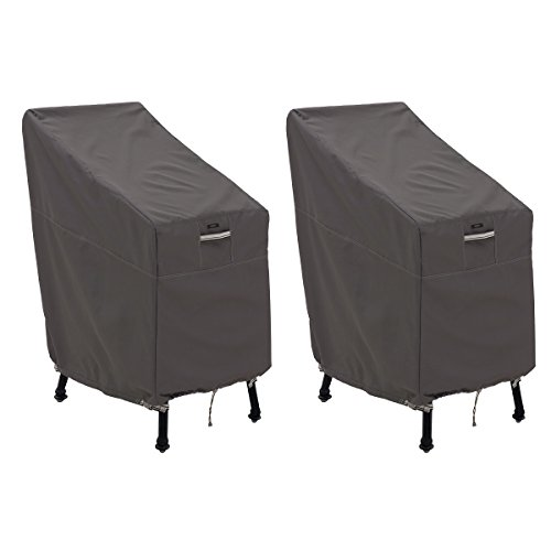 Classic Accessories 55-920-015102-2PK Ravenna Patio Bar Chair/Stool Cover, 2-Pack by Classic Accessories