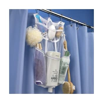 CasaVia Quick Dry Hanging Shower Organizer with Dispenser Pockets