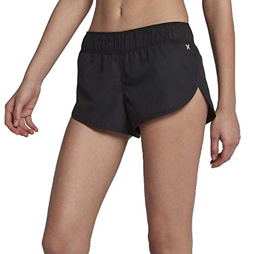 Hurley Junior's Supersuede 2.5 Inch Board Swim Short, Black//White 5, L (Hurley Shorts For Women)