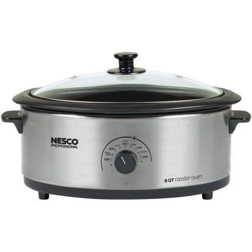 NESCO 4816-25-30 6-Quart Nonstick Roaster Oven (Stainless Steel) electronic consumer