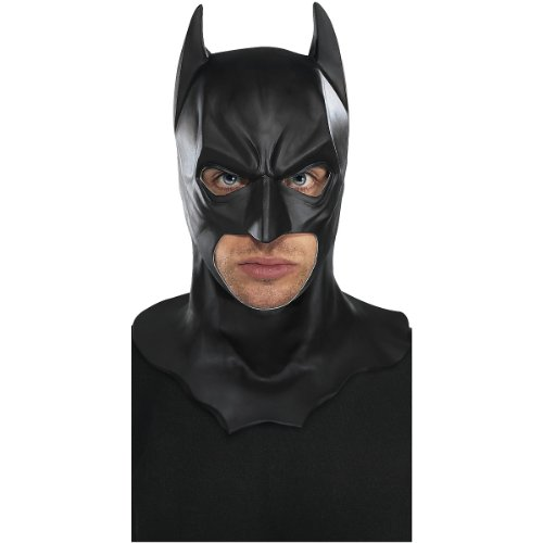 Batman The Dark Knight Rises Full Batman Mask, Black, One Size (Batman Black Knight Rises)