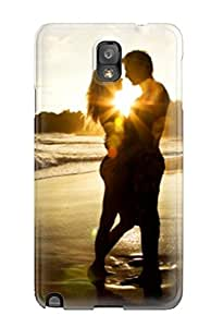 Galaxy Note 3 Case Cover Skin : Premium High Quality Love Couple Beach Kiss Kissing Case