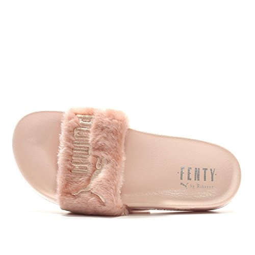 Puma X Rihanna Leadcat Fenty Fur Slides Sandals Sz 6W US