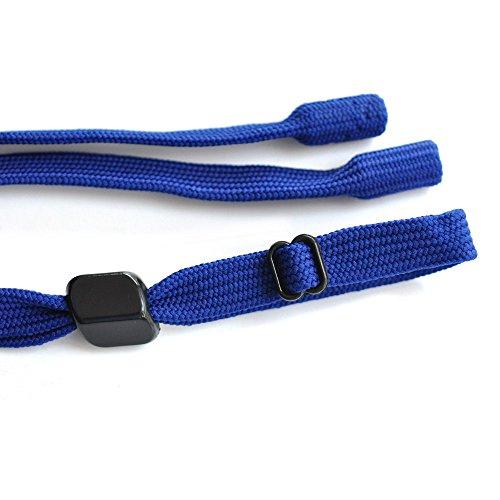 Ajetex Universal Fit Adjustable Eyewear Retainer Sports Sunglass Holder Strap 54cm 3pcs/Pack (Blue)